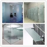 Vetro di vetro/glassato Sandblasted/ha oscurato il vetro del muro divisorio di vetro/