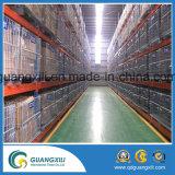 Recipiente galvanizado Foldable & Stackable do engranzamento de fio para o armazenamento do armazém