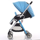 エヴァの車輪が付いている軽量の携帯用青色児キャリッジベビーカー