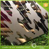 304 specchio di alta qualità 8k e strato inciso dell'acciaio inossidabile per l'incorniciatura decorativa della parete