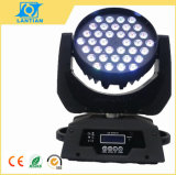 36X10W Quad dans One DEL Zoom Wash Moving Head Stage Light