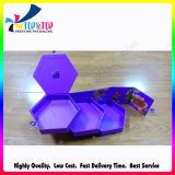 Caixa de presente de papel rígida da embalagem do projeto do hexágono