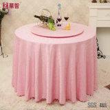 Toalha de mesa rosa Jacuqard para uso doméstico e hoteleiro