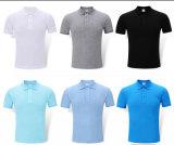 ゴルフワイシャツの人の編まれた速い乾燥した綿の赤いポロシャツ