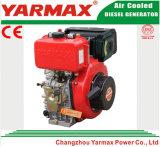 Motor diesel marina refrescado aire Ym186fa del cilindro 418cc 5.7/6.3kw 7.8/8.6HP del comienzo de la mano de Yarmax solo