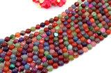 자연적인 원석 느슨한 물가 혼합 색깔 크기 6 8개의 10의 12의 14mm Facted 마노 구슬