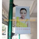Уличный свет Поляк металла рекламируя основание флага (BS-HS-039)
