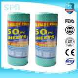 Spunlace Nonwoven Roll Disposable Cleaning Wipe для Kitchen 40GSM