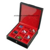 Коробка упаковки ювелирных изделий подарка Storge Cufflink бумаги картона Leatherette Jy-Cub13