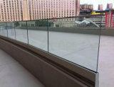 Balaustra/inferriata di vetro di Frameless di prezzi poco costosi con la Manica bassa di alluminio di U