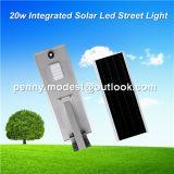 luz de rua Integrated do sensor solar do diodo emissor de luz 5W-120W com sistema de controle remoto da câmera