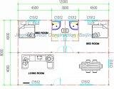 가족 사는 큰 크기 Prefabricated 집