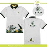 Camisa de polo do golfe do algodão dos homens feitos sob encomenda com próprio logotipo do bordado (P-03)