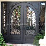 Дверь двойного входа ковки чугуна новой конструкции верхнего качества внешняя