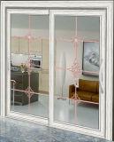 Edelstahl-Moskito-Netz-Doppeltes glasig-glänzende Aluminiumschiebetür