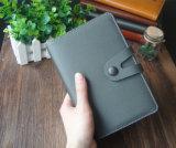 Caderno de couro do Hardcover do plutônio da alta qualidade