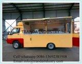 Carro de bufete do BBQ da gasolina com o forno móvel da pizza da cozinha para dentro