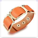 De Armband van het Leer van de Juwelen van het Leer van de Juwelen van het roestvrij staal (LB288)