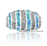 El latón caliente de la venta creó los anillos del ópalo de la joyería