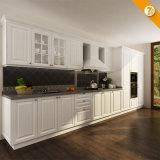 Meubles en bois de cuisine de PVC de blanc moderne de la livraison rapide d'Oppein (OP14-K002)