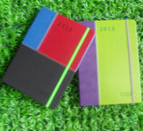 Pu Hardcover Notebook Color Assorted Diary met Elastiekje