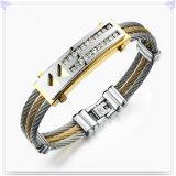 方法ブレスレットの方法宝石類のステンレス鋼の腕輪(BR189)