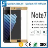 Silk Druck-blauer Screen-Schoner der Volldeckung-3D für Samsung-Galaxie-Anmerkung 7