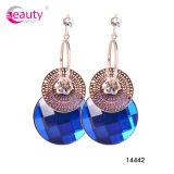 La joyería de la manera cuelga el pendiente con los fabricantes azules del pendiente de China del Rhinestone