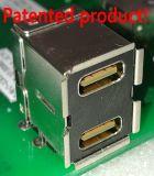 Connecteur USB3.0 femelle de C à angle droit de double paquet + un type