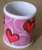 높은 Quality Plastic Cup Promotional 3D Silicone Mug (찻잔 084)