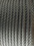 Corde galvanisée par brin rond 6X19 de fil d'acier