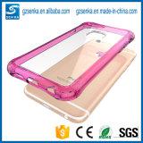 iPhone 7のケースのTransparant柔らかいTPUの豊富なアクリルの保護電話箱のため