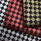 方法きらめきの格子デザイン人工的なPUの革のど袋の革