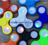 LED 싱숭생숭함 방적공 손 방적공 핑거 방적공 장난감 LED 금속 전투 세 배 손가락 공기 알루미늄 EDC 방위 고급장교 방적공