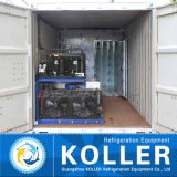 containerisierte Block-Hersteller-Maschine des Eis-2000kg mit Kaltlagerungs-Raum