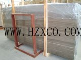 Lajes do mármore do café/telhas de madeira, mármore de madeira