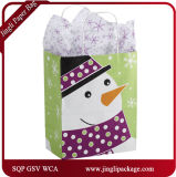 Mister Snowman Shoppers Kraft Bolsas de regalo de papel para Navidad Holiday Kraft Bolsas de papel