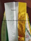 Zoll gedruckter gesponnener Beutel der Aluminiumfolie-25kg pp. für Reis