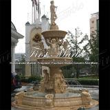 Fontana di marmo Mf-259 dell'oro del deserto della fontana del granito della fontana della pietra della fontana