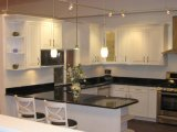 O melhor Prefabricated Black Galaxy Granite Stone Tile Worktop/bancada para Kitchen