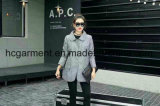 재고 의복, 회색 긴 작풍 여자 겨울 재킷
