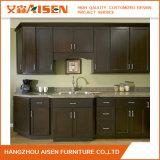 Gabinete de cozinha clássico da madeira contínua de madeira de carvalho