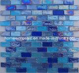 Tuiles de mosaïque en verre bleues de mélange pour la piscine (TB03+TB08+TB09)