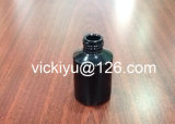 botellas de cristal negras de la loción 60ml, botellas de petróleo esencial del vidrio, serie negra de botellas de cristal de la loción