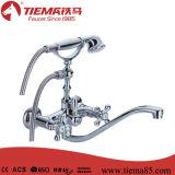 Torneira de banho / chuveiro de duas mãos de alta qualidade em bronze (ZS57501)