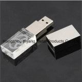 Laser Coving in 3D Bestuurder van het Kristal USB van het Embleem van het Bedrijf Lichtgevende