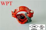 Тройник UL FM Approved Grooved продетый нитку механически