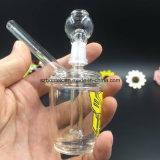 Mini tubulação de água de vidro colorida por atacado da plataforma petrolífera com junção de 14.5mm
