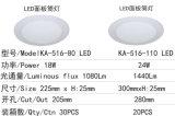 luz del panel redonda de 18W LED LED Downlight ahuecado techo
