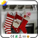 Bas de chaussette d'ornement de cadeau de décoration de Noël pour Noël (bas de Noël de velours de qualité)